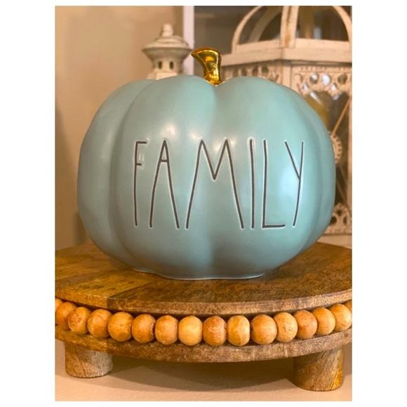 """Rae Dunn """"Family"""" Pumpkin"""